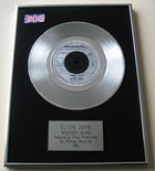 "ELTON JOHN - ""NOBODY WINS"" PLATINUM Single Presentation Disc"